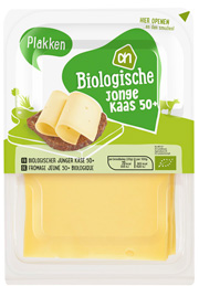 AH biologisch jonge kaas 50+ plakken stremsel gestremd Vegetarisch Weekmenu
