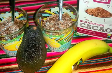 Chocoladepudding recept banaan avocado
