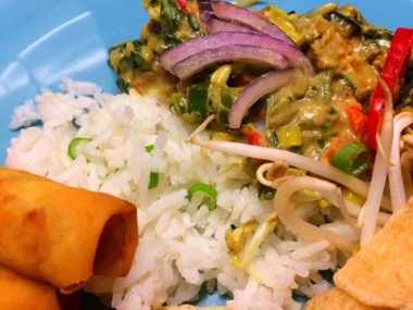 groene curry met rijst heerlijk varie ren veganistisch recept waarmee je. Black Bedroom Furniture Sets. Home Design Ideas