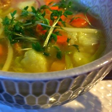 Groentesoep noodles veggie / vegan recept