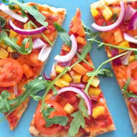 Snelle Veggie Pizza gezonde snack
