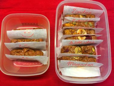Bananenbrood invriezen. Broodbakje voor vegan lunch van Marije op Vegetarisch weekmenu