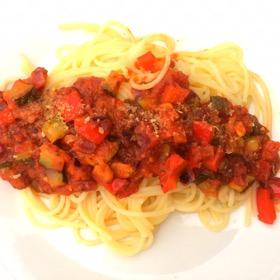 Happy spaghetti is een snel recept op Vegetarisch Weekmenu