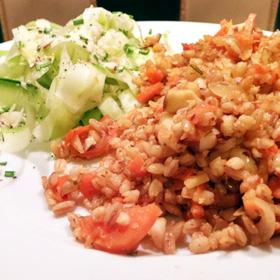 Rijst 5 granen AH recept met wortel op Vegetarisch Weekmenu