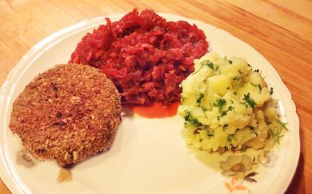 Rode bieten klaarmaken volgens grootmoeders recept op Vegetarisch Weekmenu