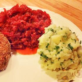 Rode bieten recept appel oma aardappel peterselie op Vegetarisch Weekmenu
