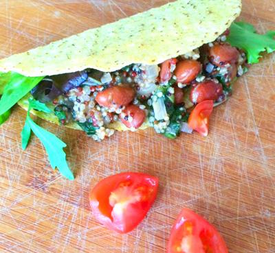 Taco bowl recept met tomaten op Vegetarisch-Weekmenu
