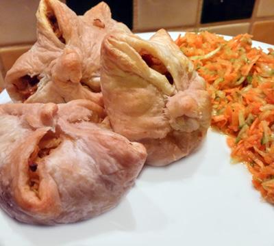 Bladerdeegpakje artisjok is een vegetarisch recept in het weekmenu