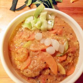 Curry pompoen en courgette recept op Vegetarisch Weekmenu