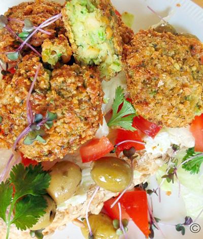Falafel recept met kikkererwten en doperwten op Vegetarisch Weekmenu