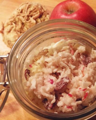 Selderijsalade met rozijnen en appel recept op Vegetarisch Weekmenu