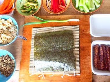 Sushi recept met rijst, quinoa en wasabi op Vegetarisch Weekmenu