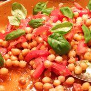 Kikkererwten uit de oven salade vegan recept op Vegetarisch Weekmenu