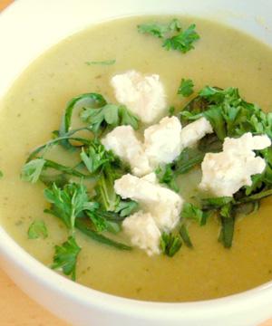 Courgette soep recepten met vega kaas op Vegetarisch Weekmenu
