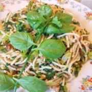 Kruiden spaghetti met peterselie, bieslook en basilicum recept op Vegetarisch Weekmenu