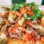 Shoarma groente stoofpan hoofdgerecht op Vegetarisch Weekmenu