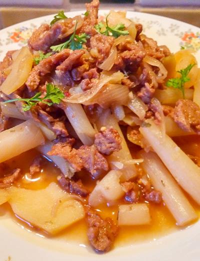 Stoofpot asperges en seitan recept op Vegetarisch Weekmenu