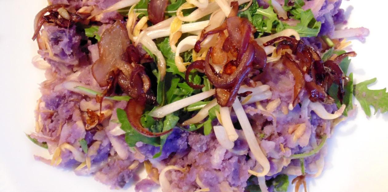 Truffelaardappel stamppot recept vor een hoofdgerecht op Vegetarisch Weekmenu