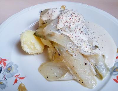 Witlof met mosterd saus aardappelen op Vegetarisch Weekmenu
