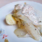 Witlof mosterdsaus recept koken op Vegetarisch Weekmenu