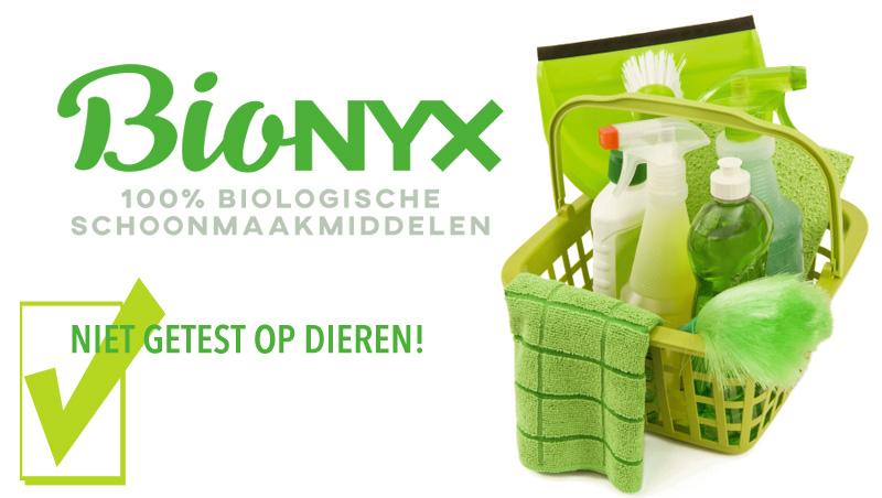 BIOnyx groen biologisch schoonmaken schoonmaakmiddelen vegetarisch weekmenu