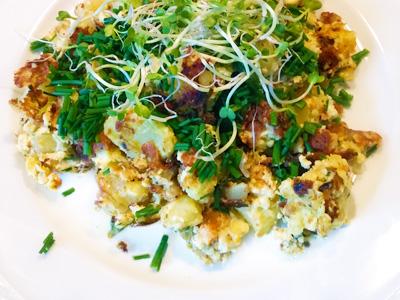 Boerenomelet met bieslook recept op Vegetarisch Weekmenu