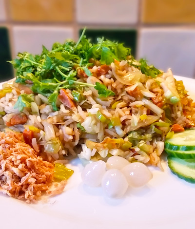 Koelkast leeg nasi recept op Vegetarisch Weekmenu