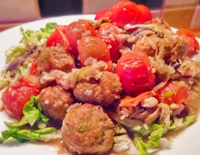 Snelle hap recept van Vega balletjes met cherrytomaten op Vegetarisch Weekmenu