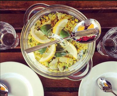 Risibisi vegetarisch rijstsalade recept van Sander Vrugt van Keulen op Vegetarisch Weekmenu