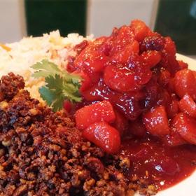 Zoete verwennerij wortelen en cranberries. Lekker op warme lente en zomer avonden