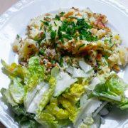Gebakken aardappelen maken met vinaigrette Vegetarisch Weekmenu