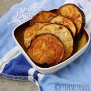aubergine frituur recept op Vegetarisch Weekmenu