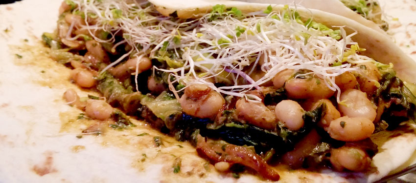Wraps witte bonen sperziebonen Vegetarisch Weekmenu