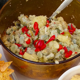 Tuinbonen aardappelsalade recept bbq op Vegetarisch Weekmenu