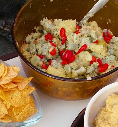 Tuinbonen aardappelsalade recepten op Vegetarisch Weekmenu voor zomer picknick