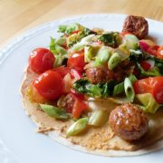 Cherrytomaatjes wrap gemakkelijk vegan recept op Vegetarisch Weekmenu