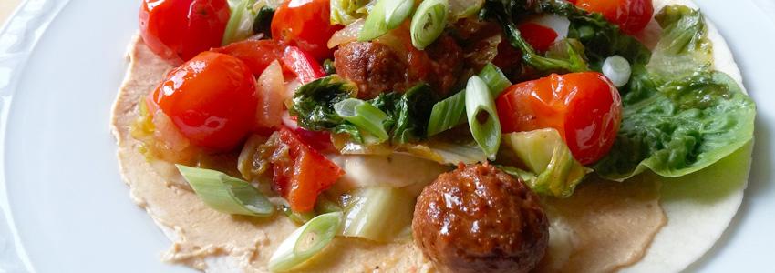 Cherrytomaatjes wrap spinazie. Makkelijk recept op Vegetarisch Weekmenu