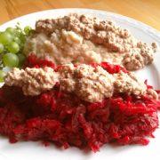 Rode bieten selderijknol stampot recept Vegetarisch Weekmenu