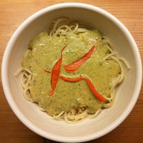 Spaghetti basilicumsaus vega pasta Vegetarisch Weekmenu