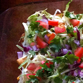 Kapsalon lookalike ovengerecht guacomole recept Queenie Vegetarisch Weekmenu