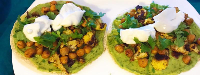 Geroosterde groenten pita kikkererwten makkelijk recept Vegetarisch Weekmenu
