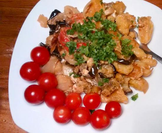Gnocchi met geroosterde groente en feta recept Emma Vegetarisch Weekmenu