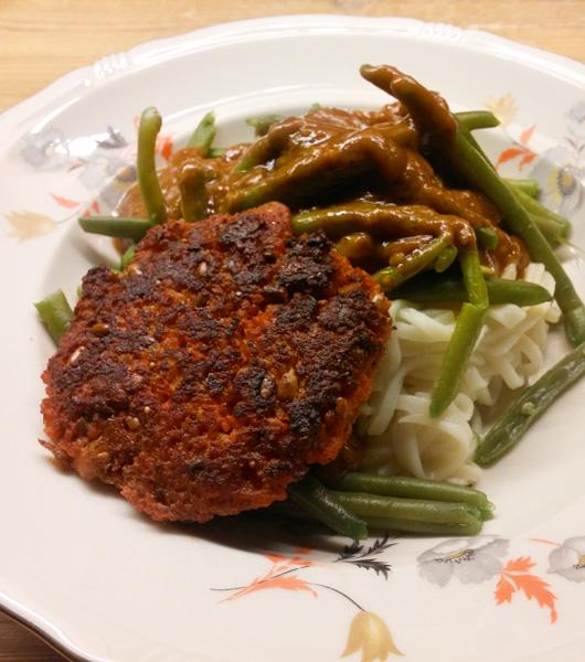 Sperziebonen met couscous burger recept Vegetarisch Weekmenu