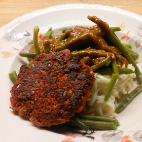 Sperziebonen met couscous burger zelf maken hoofdgerecht Vegetarisch Weekmenu