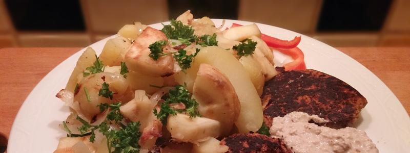 Gebakken pastinaak en aardappel recept Vegetarisch Weekmenu