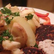 Gebakken pastinaak en aardappel vegan linzen burger recept Vegetarisch Weekmenu