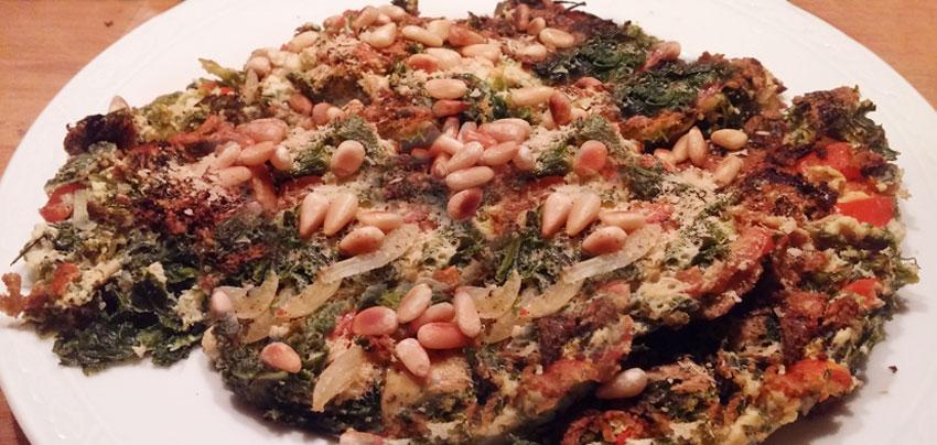 Boerenkool pannenkoek recept vegetarisch paprika eenpans gerecht maaltijd