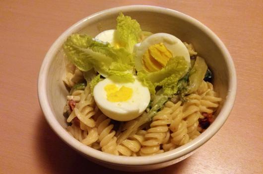 Fusilli pasta spinazie recept ei Vegetarisch Weekmenu