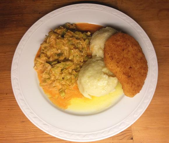 Knödeln knoedel recept aardappel gerookte prei Vegetarisch Weekmenu