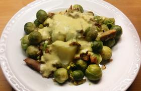 Romige spruitjes aardappel recept blog veggie vega Vegetarisch Weekmenu